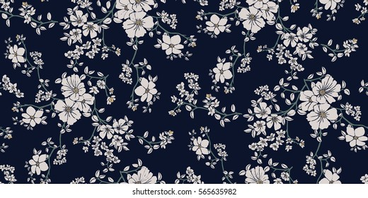 Superior Seamless Floral Pattern In Vector