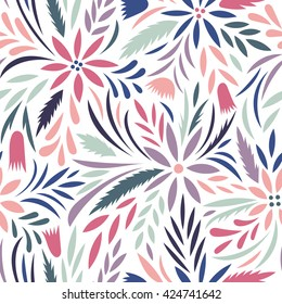Seamless floral pattern. Vector floral background