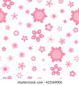 Seamless floral pattern. Vector repeating texture.