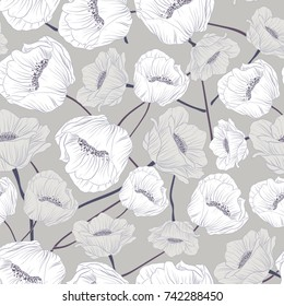 Seamless Floral Pattern in vector. Trend colors Fall 2017