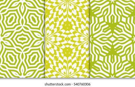 Seamless floral patterns set. Vector illustration. Texture for design wallpaper, pattern. ethnic ornament
