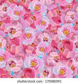 Seamless Floral Peonies