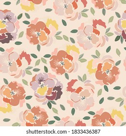 seamless floral print floral pattern watercolor flowers