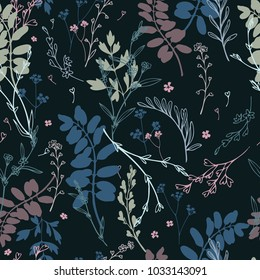 Seamless floral vector pattern.