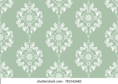 Seamless floral wallpaper pattern. Floral ornament on background. Contemporary pattern. Wallpaper pattern