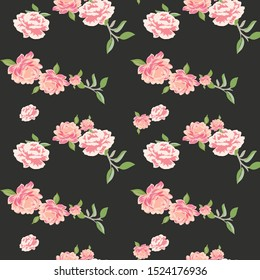 seamless flower with paisley pattern on  background