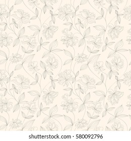 Seamless flower pattern can be used for wallpaper, website background, wrapping paper, invitation, flyer, banner or website. Hand drawn vector illustration of doodle elements