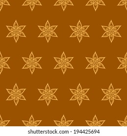 Seamless flower pattern with flowers
