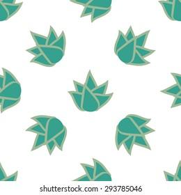 Seamless flower pattern on white background. Vector illustration.