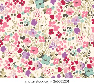 Seamless flower pattern. Vector illustration