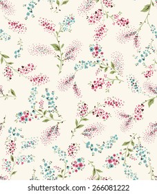 Seamless flower pattern. Vector illustration
