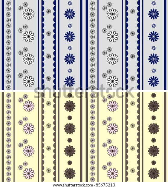 Seamless flowers (beige and gray)