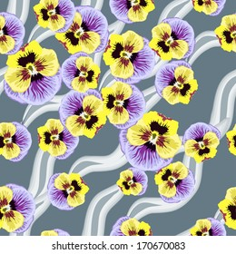 Seamless Flowers Pansy