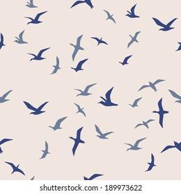 seamless flying birds