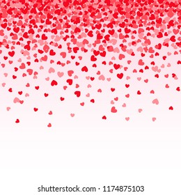 Seamless flying heart confetti
