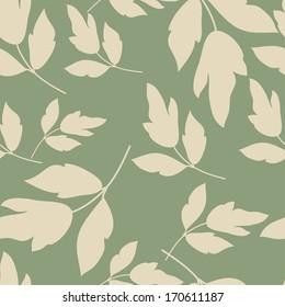 Seamless Foliage On Green Background