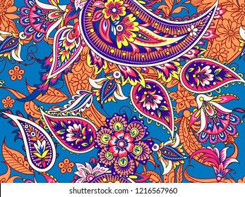 Seamless folk indian pattern