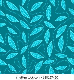 Seamless fon with abstract elements. Simple cute vector pattern in small-scale elements on the colored background. Seamless background for manufacturing, wallpapers, print, card and fabric design.