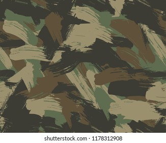 Seamless Forrest Brush Camouflage