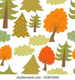 Seamless forrest pattern