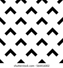 Seamless forward arrow pattern on white background