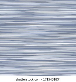 Seamless french blue grey variegated marl heather texture background. Woven cotton textile. Blotched striped bedding fabric. Vector soft linen pattern style. Mottled melange space dye textile effect