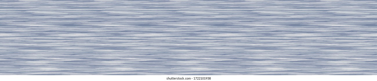 Seamless french variegated marl heather border background. Woven cotton textile. Blotched striped banner fabric trim. Vector soft linen pattern edge.  Mottled melange space dye textile effect