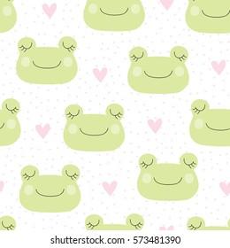 seamless frog pattern vector illustration