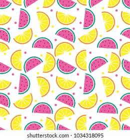 seamless fruit pattern vector illustration