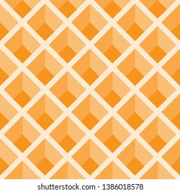 seamless geomeric illustion pattern, interlace trapezoid deep dimension vector.