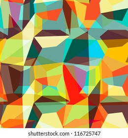 Seamless geometric background pattern, vector