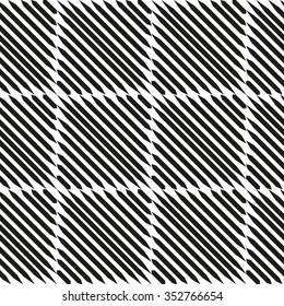 Seamless geometric black and white pattern. Vector illustration