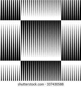 Seamless geometric black and white stripes background, simple vector pattern.