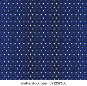 Seamless Geometric Color Black Sea Pattern.