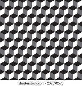 Seamless Geometric Cube Texture Pattern Background