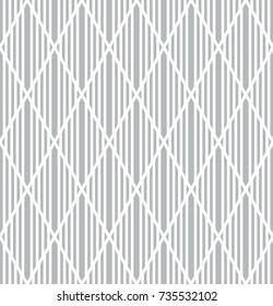 Seamless geometric diamonds pattern. Lines texture. Vector art.