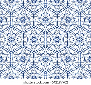 seamless geometric floral pattern. abstract vector illustration