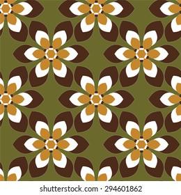 Seamless geometric flower design
