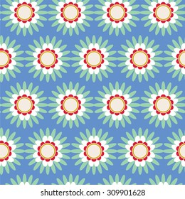 Seamless geometric flower light pattern