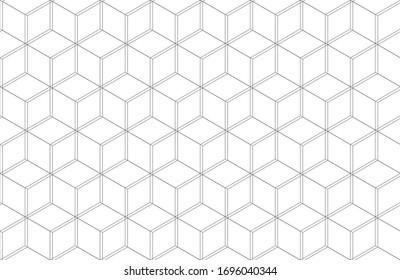Seamless Geometric Hexagonal Line Pattern Background