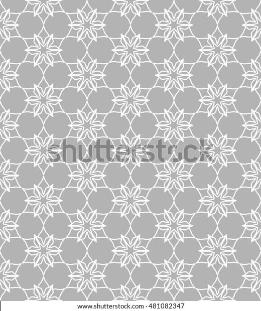 Seamless Geometric Line Pattern Contemporary Graphic Stock