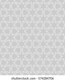 Фотообои Seamless geometric line pattern, design for packaging in linear style. Interlacing texture for wallpaper, banners, invitations, business cards, fabric print. Interweaving gray white lacy background