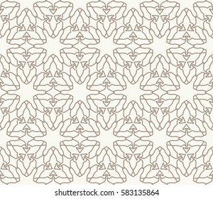 Фотообои Seamless geometric line pattern. Interlacing linear texture for wallpaper, packaging, banners, invitations, business cards, fabric print. Interweaving golden brown and white graphic background