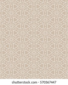 Seamless geometric line pattern. Repeating texture, trendy linear design for packaging, wallpaper, banner, invitation, business card, fabric print. Ethnic line islamic background in arabian style