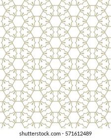 Фотообои Seamless geometric line pattern. Repeating texture, trendy linear design for packaging, wallpaper, banner, invitation, business card, fabric print. Ethnic line islamic background in arabian style