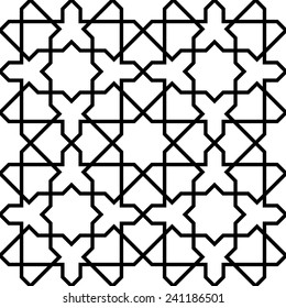 Seamless Geometric Mashrabiya Pattern