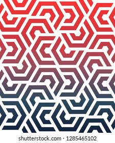 Seamless geometric modern pattern from hexagons. Vector illustration.