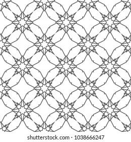 Фотообои Seamless geometric ornamental vector pattern