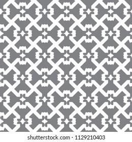 Seamless geometric ornamental vector pattern
