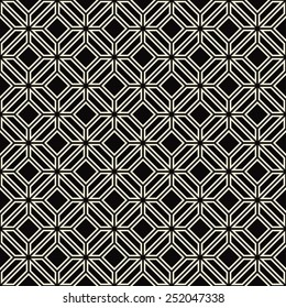 seamless geometric outline pattern of diamonds.